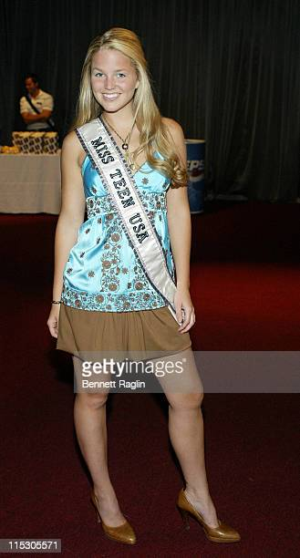 Allie Laforce Miss Teen USA 2005 during Advanced Screening of Uncovered The Hidden Lives of Miss USA at Madame Tussauds in New York New York United...