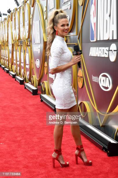 Allie LaForce poses for a photo on the red carpet before the 2019 NBA Awards Show on June 24 2019 at Barker Hangar in Santa Monica California NOTE TO...