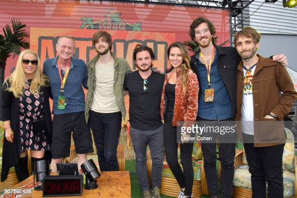 Allie Mac Kay Kevin Ryder and Matt Quinn Sam Cooper Jackie Miclau Michael Byrnes and Sotiris Eliopoulos of Mt Joy attend KROQ Weenie Roast 2018 at...
