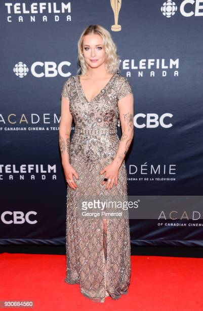 Allie MacDonald arrives at the 2018 Canadian Screen Awards at the Sony Centre for the Performing Arts on March 11 2018 in Toronto Canada