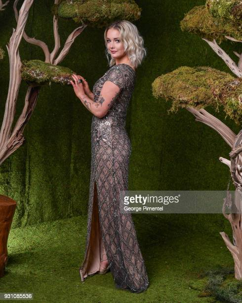 Allie MacDonald poses in the 2018 Canadian Screen Awards Broadcast Gala Portrait Studio at Sony Centre for the Performing Arts on March 11 2018 in...