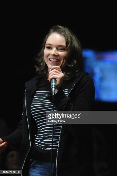 Allie Mae performs at The Stress Factory Comedy Club on October 19 2018 in New Brunswick New Jersey