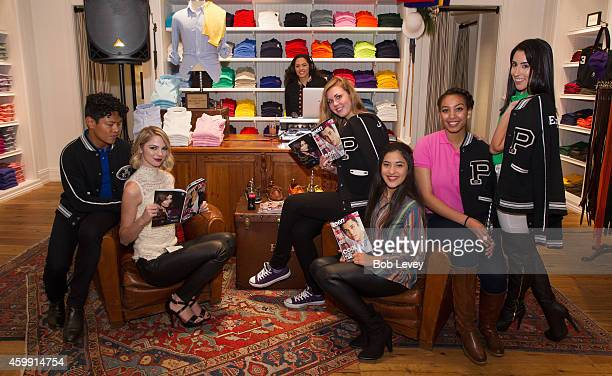 Allie Marie Evans along with the It Girls and DJ Athenz at the Teen Vogue and Polo Ralph Lauren December 2014 Houston Store Opening on December 3...