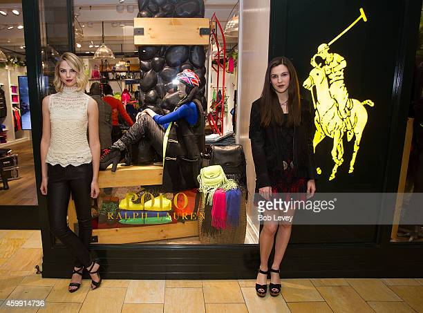 Allie Marie Evans and Kirby Marzec at the Teen Vogue and Polo Ralph Lauren December 2014 Houston Store Opening on December 3 2014 in Houston Texas