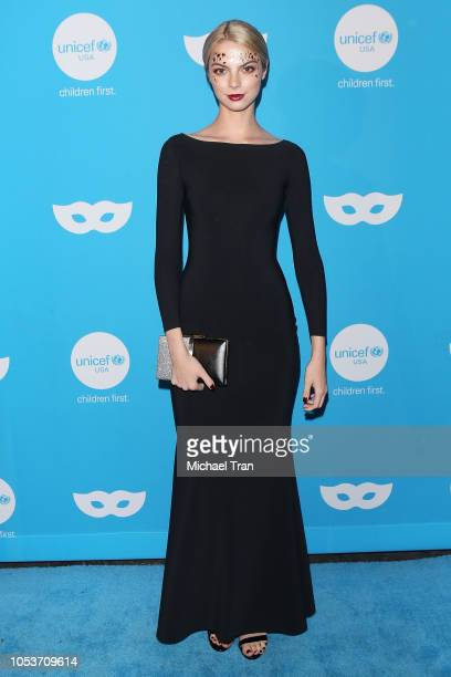 Allie Marie Evans arrives to the Sixth Annual UNICEF Masquerade Ball held at Clifton's Republic on October 25 2018 in Los Angeles California
