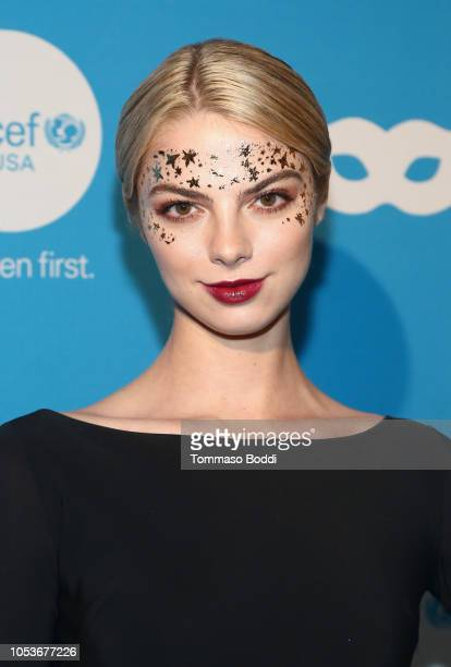 Allie Marie Evans attends the Sixth Annual UNICEF Masquerade Ball at Clifton's Republic on October 25 2018 in Los Angeles California