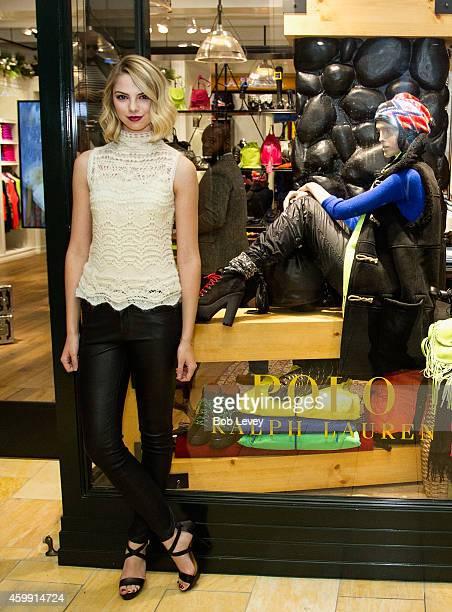Allie Marie Evans poses outside the POLO Ralph Lauren store on December 3 2014 in Houston Texas