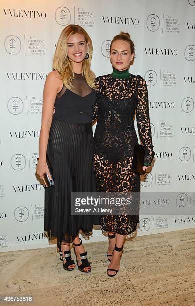 Allie Michler and Grace Fuller attend The Society of Memorial Sloan Kettering's Fall Party at the Four Seasons Restaurant on November 11 2015 in New...