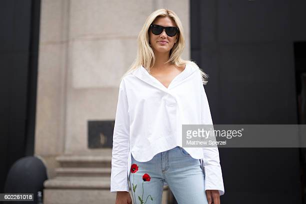 Allie Michler is seen attending Cushnie Et Ochs during New York Fashion Week on September 9 2016 in New York City