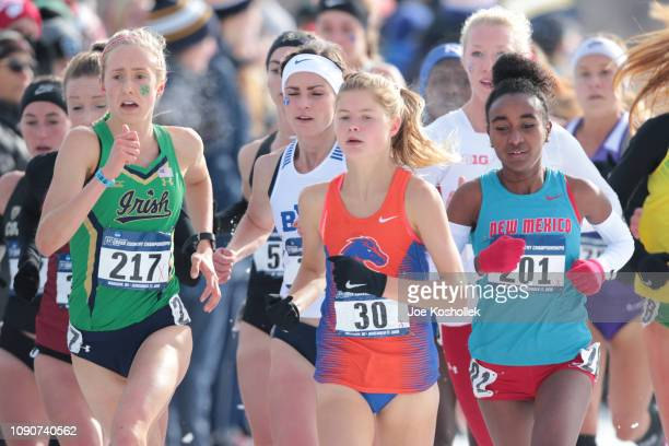 Allie Ostrander of the Boise State Broncos competes during the Division I women's Cross Country Championship held at the Thomas Zimmer Championship...