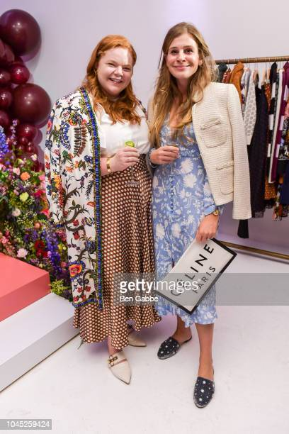 Allie Provost and Lucy Cuneo attend the Nordstrom and Blair Eadie launch of the Halogen x AtlanticPacific Collection at Milk Studios on October 3...