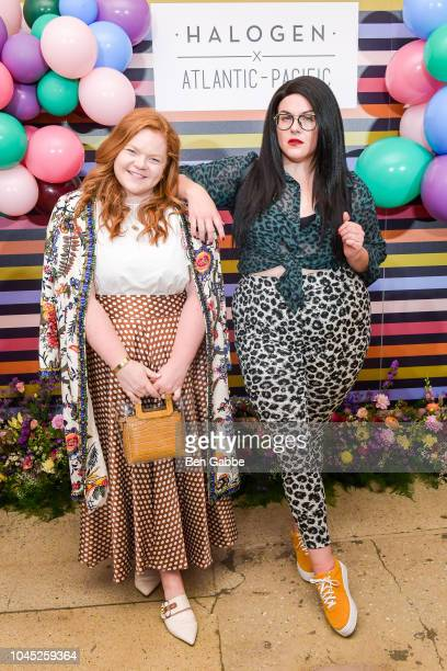 Allie Provost and Lydia Hudgens attend the Nordstrom and Blair Eadie launch of the Halogen x AtlanticPacific Collection at Milk Studios on October 3...