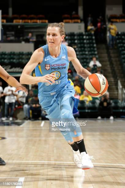 Allie Quigley of the Chicago Sky drives to the basket against the Indiana Fever on June 15 2019 at the Bankers Life Fieldhouse in Indianapolis...