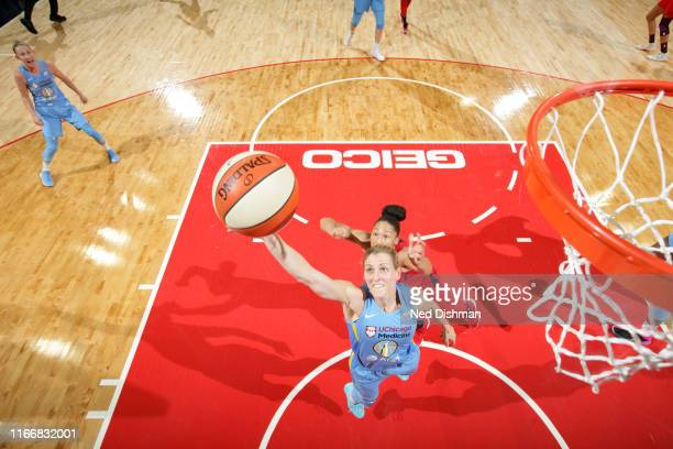 Allie Quigley of the Chicago Sky gets the rebound against the Washington Mystics on September 8 2019 at the St Elizabeths East Entertainment Sports...