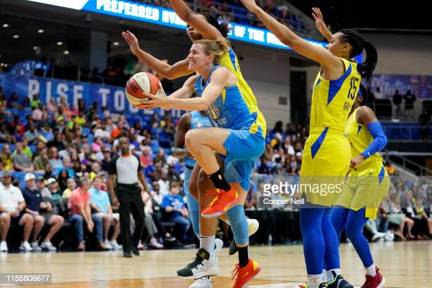 Allie Quigley of the Chicago Sky goes to the basket against the Dallas Wings on July 14 2019 at College Park Center in Arlington Texas NOTE TO USER...