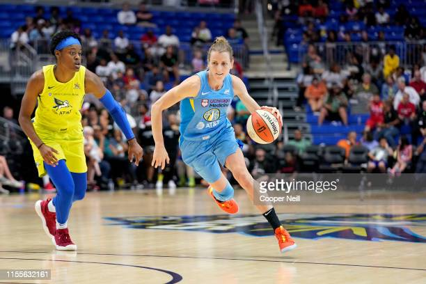 Allie Quigley of the Chicago Sky handles the ball against the Dallas Wings on July 14 2019 at College Park Center in Arlington Texas NOTE TO USER...
