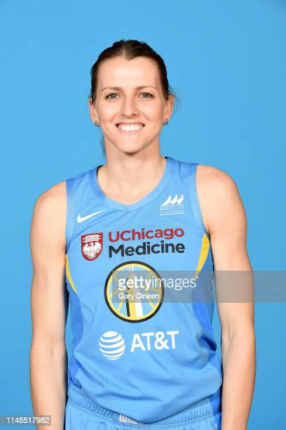 Allie Quigley of the Chicago Sky poses for a head shot during 2019 WNBA Chicago Sky Media Day on May 21 2019 at Wintrust Arena in Chicago Illinois...