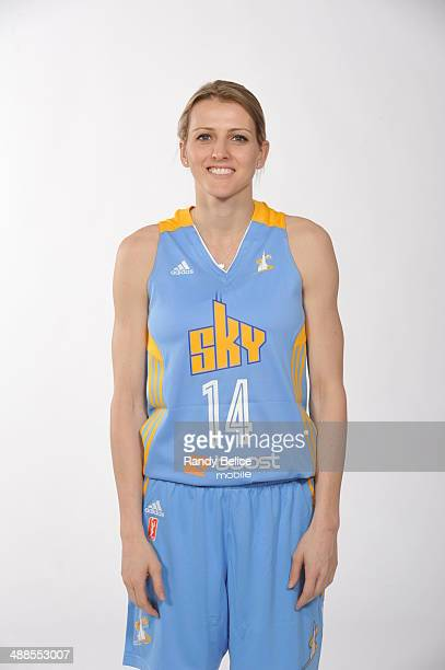 Allie Quigley of the Chicago Sky poses for a portrait on WNBA Media Day on May 6 2014 at Sachs Recreation Center in Deerfield Illinois NOTE TO USER...
