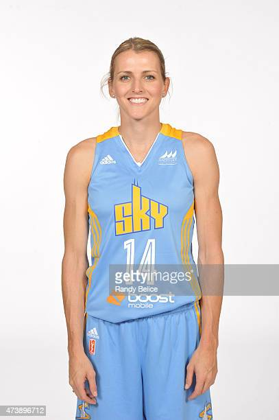 Allie Quigley of the Chicago Sky poses for her headshot during the 2015 Chicago Sky Media Day on May 18 2015 at the Sachs Recreation Center in...