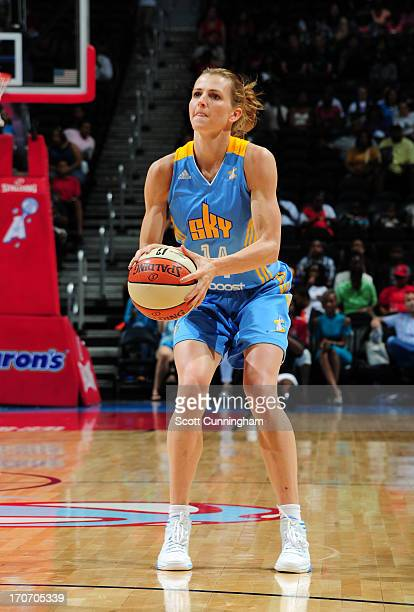 Allie Quigley of the Chicago Sky puts up a shot against the Atlanta Dream at Philips Arena on June 16 2013 in Atlanta Georgia NOTE TO USER User...