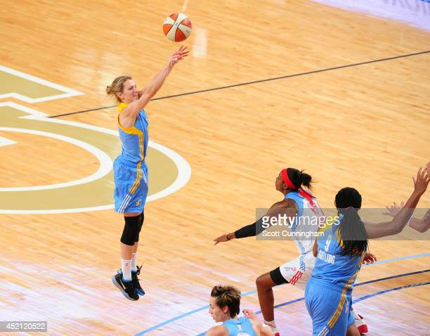 Allie Quigley of the Chicago Sky puts up a shot against the Atlanta Dream on July 13 2014 at McCamish Pavilion in Atlanta Georgia NOTE TO USER User...