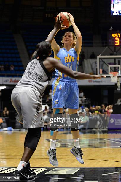 Allie Quigley of the Chicago Sky shoots against the San Antonio Stars on June 20 2015 at Freeman Coliseum in San Antonio Texas NOTE TO USER User...