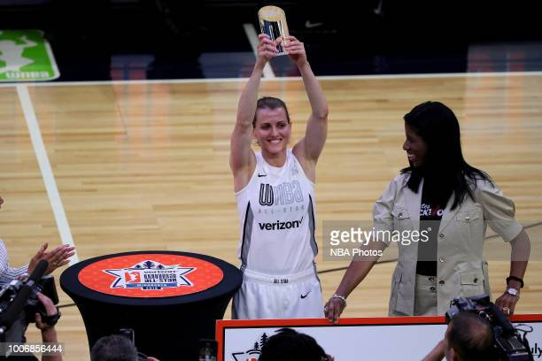 Allie Quigley of the Chicago Sky wins the threepoint contest during halftime of the Verizon WNBA AllStar Game on July 28 2018 at the Target Center in...