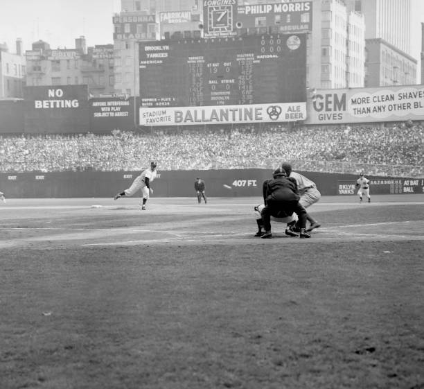 Allie Reynolds of the Yankees at the start of Game 1 of the