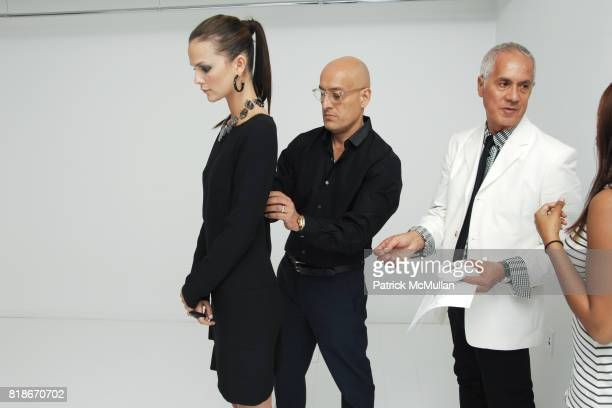 Allie Rizzo Angel Sanchez and Domingo Nazario attend SANCHEZ Launch at 148 West 37th Street on June 9 2010 in New York City
