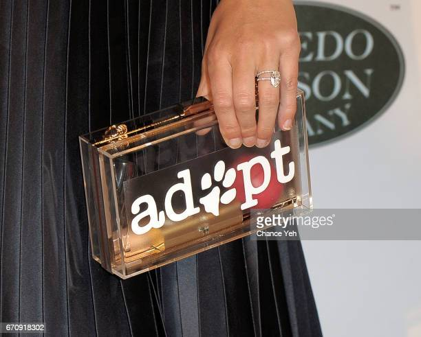 Allie Rizzo bag detail attends 20th Annual ASPCA Bergh Ball at The Plaza Hotel on April 20 2017 in New York City
