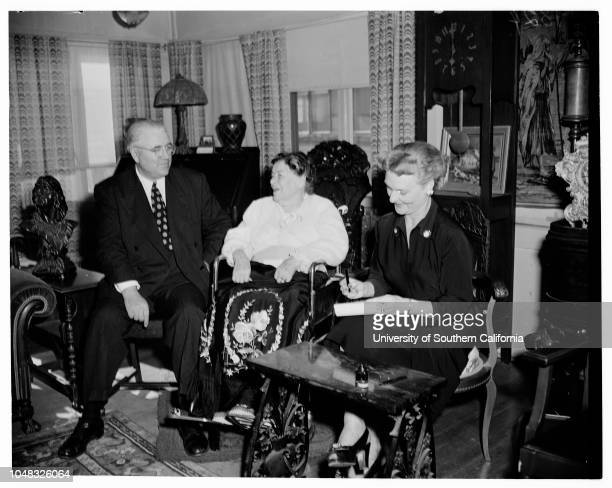 Allie Sacks hearing 17 February 1953 Probate Judge Newcomb CondeeMrs Allie Walters Sacks 86 yearsMrs Betty WallaceEarl Sacks 62 yearsBailiff Alan W...