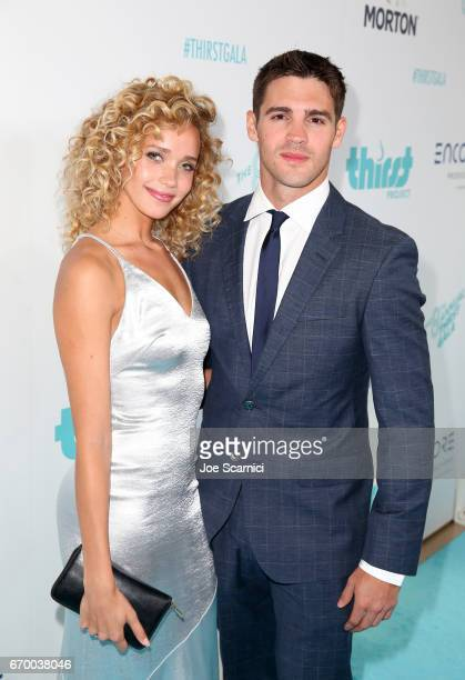 Allie Silva and Steven McQueen attend the Thirst Project's 8th Annual thirst Gala at Beverly Hills Hotel on April 18 2017 in Beverly Hills California