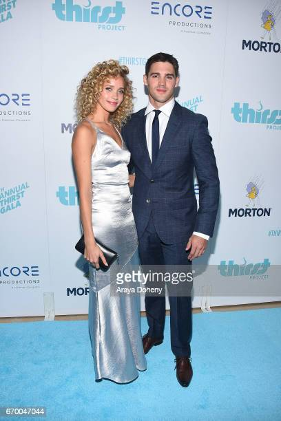 Allie Silva and Steven McQueen attend the Thirst Project's 8th Annual Thirst gala at The Beverly Hilton Hotel on April 18 2017 in Beverly Hills...