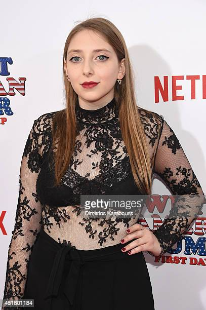 Allie Stamler attends the 'Wet Hot American Summer First Day of Camp' Series Premiere at SVA Theater on July 22 2015 in New York City