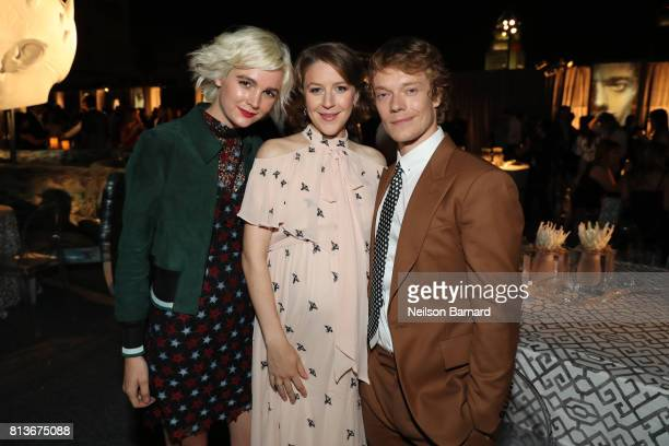 Allie Teilz Gemma Whelan and Alfie Allen attend the Premiere of HBO's 'Game Of Thrones' Season 7 after party at Walt Disney Concert Hall on July 12...