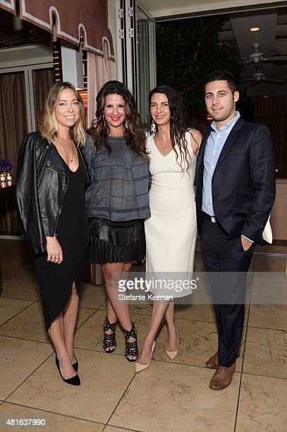 Allie Wilson Charlotte Blechman Shiva Rose and Julian Jacobs attend Barneys New York Hosts Dinner to Celebrate the Fragrance Collaboration between...