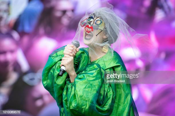 Allie X performs during Lollapalooza 2018 at Grant Park on August 2 2018 in Chicago Illinois