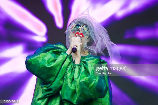 Allie X performs on day one of Lollapalooza at Grant Park on August 2 2018 in Chicago Illinois