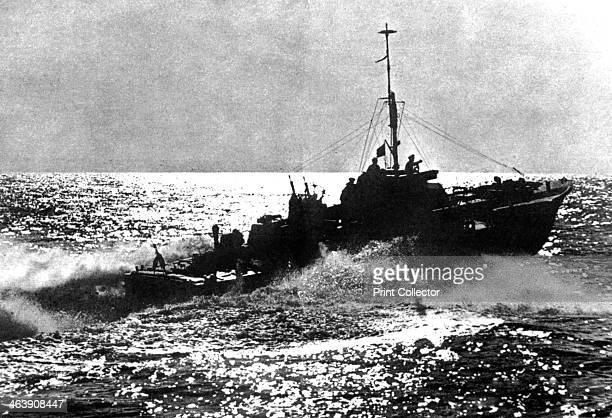 Allied motor torpedo boat on patrol off the French coast 1944