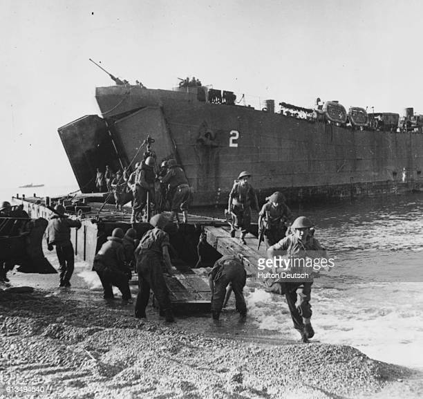Allied Troops Land at Salerno