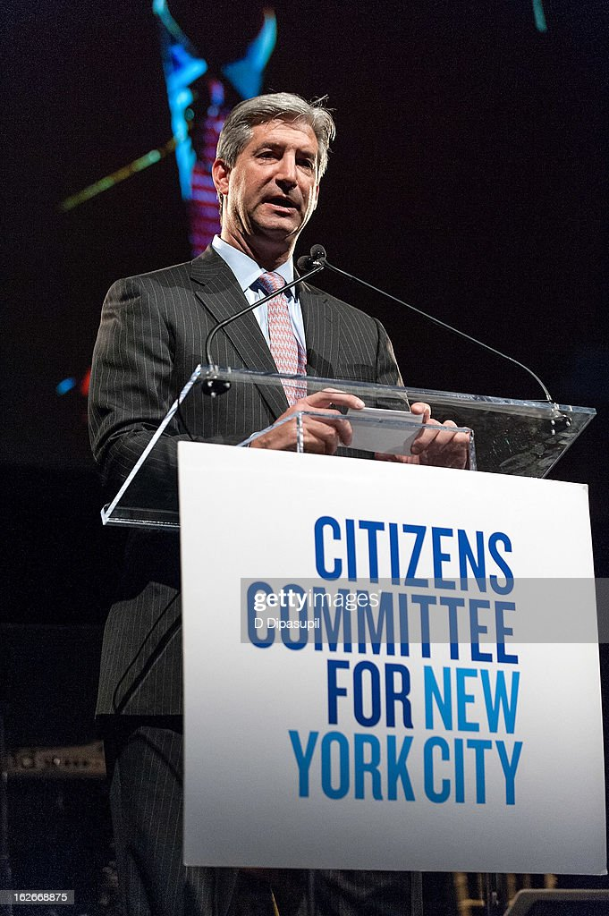 Allied World Assurance Company president and CEO Scott Carmilani speaks on stage during the New Yorker For New York Gala 2013 at Gotham Hall on February 25, 2013 in New York City.