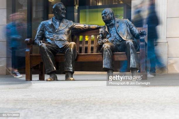 'Allies' statue of Franklin D. Roosevelt and Winston Churchill