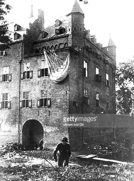 Alliierte Luftlandung: Arnheim, NijmwegenSeptember/Oktober 1944:Kampf gegen britische Fallschirmjäger aneinem niederrheinischen Kastell.Oktober 1944