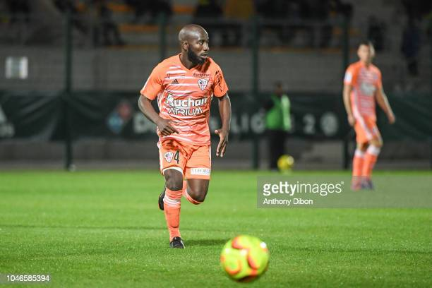Alliou Dembele of Ajaccio during the Ligue 2 match between Red Star and AC Ajaccio at Stade Pierre Brisson on October 5 2018 in Beauvais France