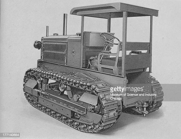 AllisChalmers Monarch 50 TrackType black and white image of the rear side of a Monarch 50 tractor which shows the superior construction of this...