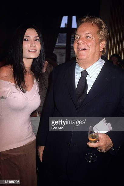 Allison Adoue and Massimo Gargia during 'Une Vie Paris' Tribute to Dalida Exhibition Preview Party at Mairie de Paris in Paris France
