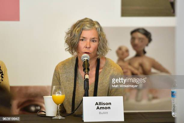 Allison Amon speaks onstage during the 2018 Mammoth Lakes Film Festival on May 26 2018 in Mammoth Lakes California