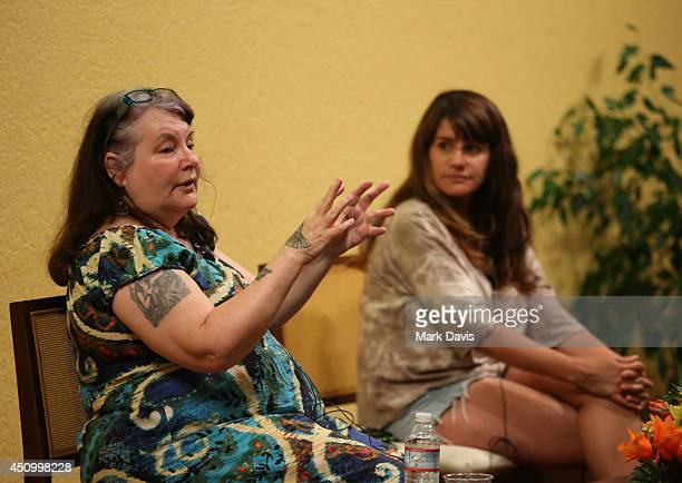 Allison Anders and Tiffany Anders attend the 'Master Class Music in Film with Allison and Tiffany Anders' panel during the 2014 Palm Springs...