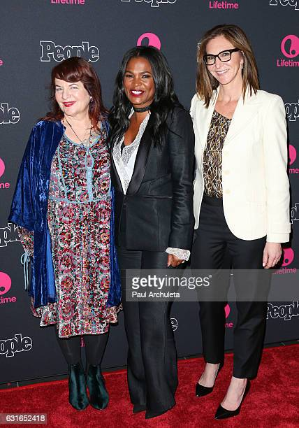 Allison Anders Nia Long and Alison Greenspan attends the premiere screening of Lifetime Television's 'Beaches' at Regal LA Live Stadium 14 on January...