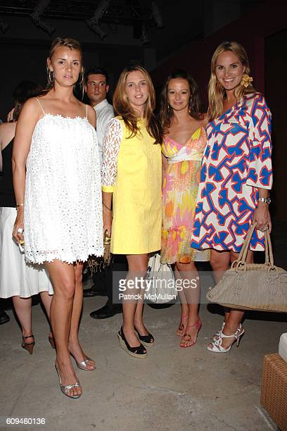 Allison Aston Emilia Fanjul Pfeifler Michelle Smith and Annie Taube attend MILLY RESORT Collection Inspired by Punta Mita at Skylight Studios on June...
